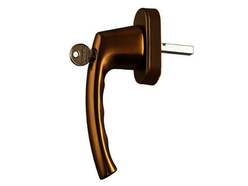 Оконная ручка с ключом Hoppe Токио бронза F4