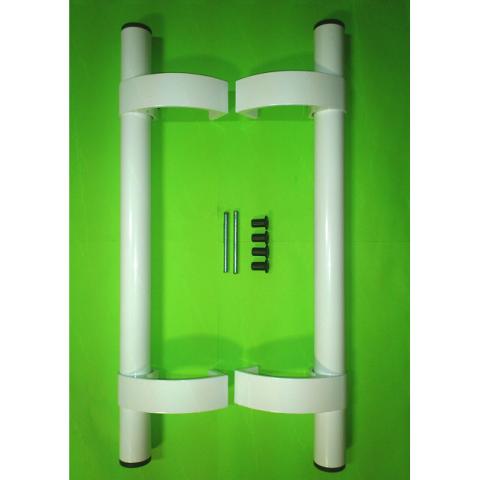 Дверная ручка - скоба Light белая 1000.4