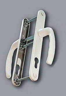 Нажимной гарнитур для ПВХ дверей Hoppe New York белый