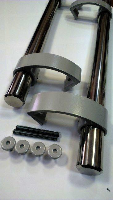 Ручка труба для дверей Maxi Chrome из нержавеющей стали 1500.6