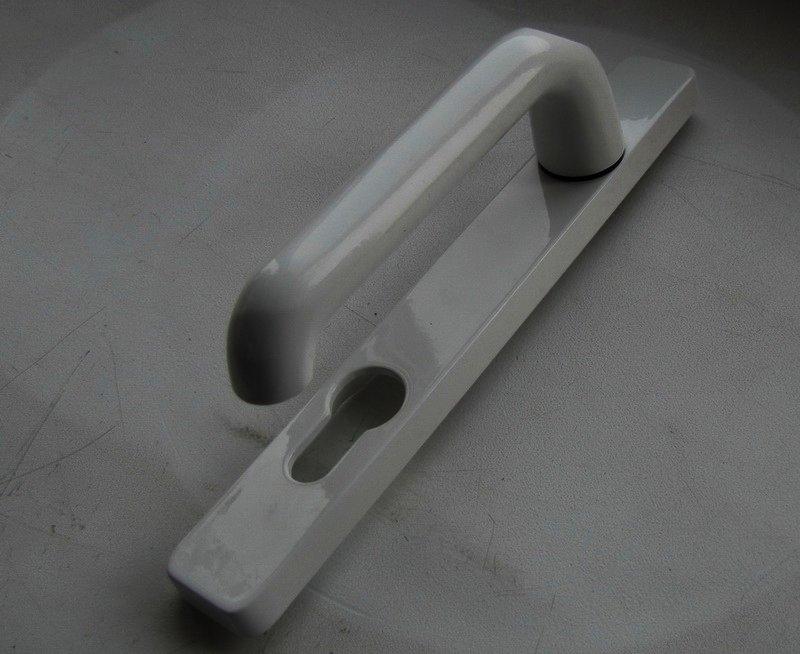 Дверные нажимные ручки Schuring белые