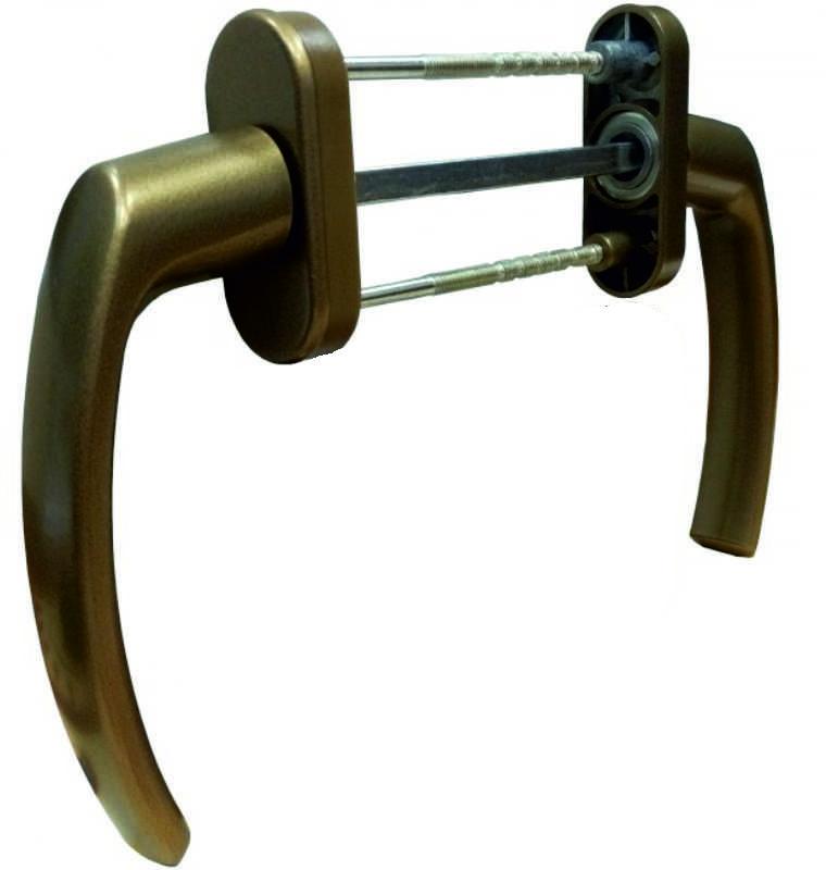 Балконная ручка двухсторонняя Medos Pluton бронза