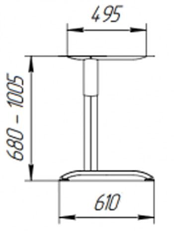 Каркас для стола High-C опора регулируемая по высоте