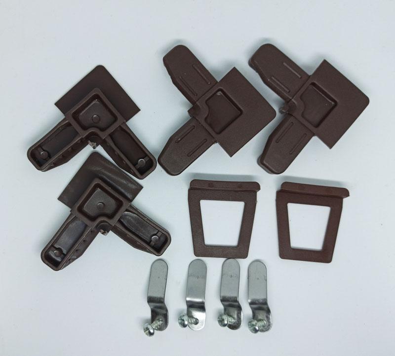 Комплектующие для ремонта москитной сетки на окна коричневые