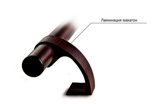Офисная ручка-скоба ламинация махагон 500.4