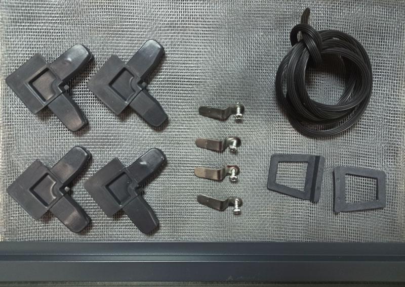 Набор для сборки москитной сетки на окна серый антрацит