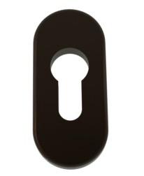 Накладка на дверной цилиндр ПВХ коричневая