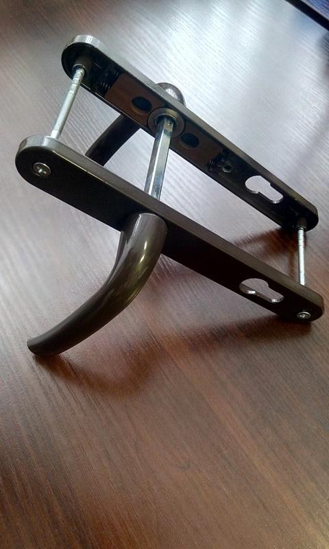 Нажимной гарнитур 85 мм коричневый
