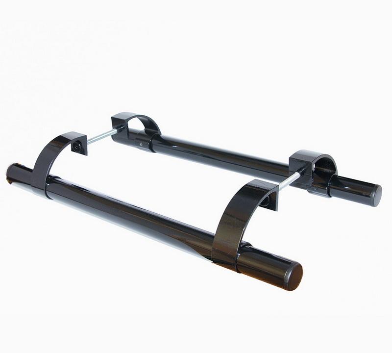 Офисная ручка-скоба для металлопластиковых дверей черная 500 мм