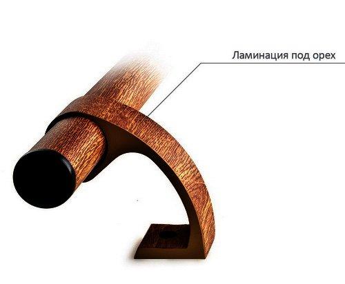 Дверная ручка прямая Maxi Decor орех 500.4