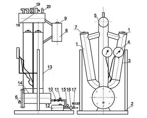 Промышленный парогенератор 150 кВт 8 атмосфер