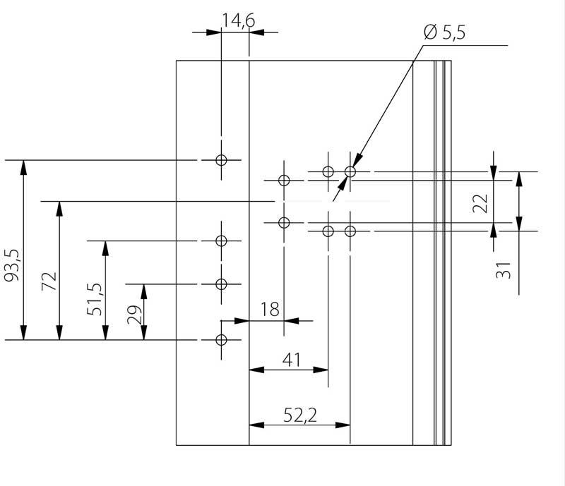 Петли дверные Schuring M-TEC III коричневая 120 кг