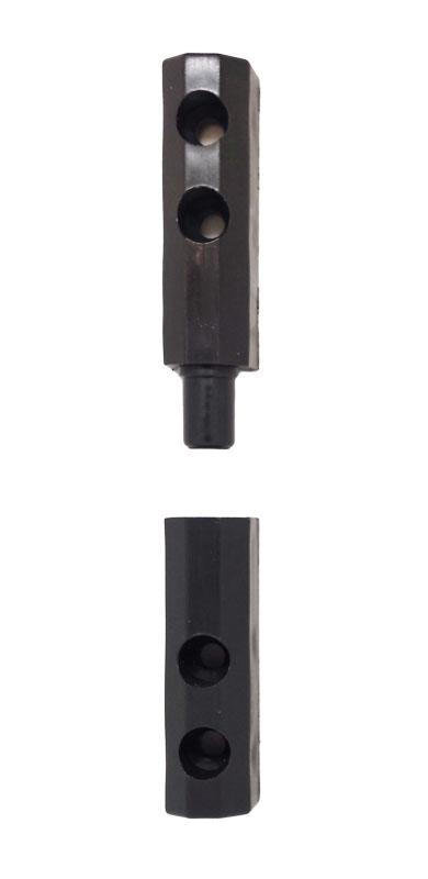 Петля пластиковая для москитной сетки на двери антрацит