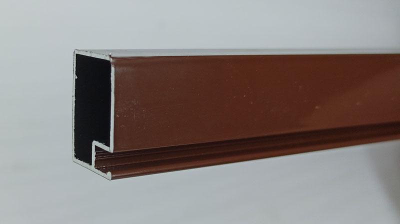 Профиль для москитной сетки на двери 17х25 коричневый