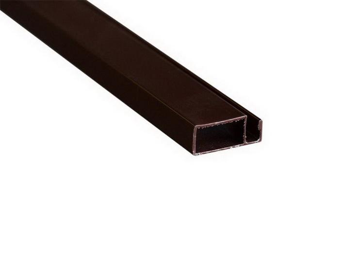 Профиль для москитной сетки рамный коричневый 10х20