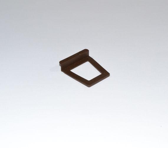 Ручка для москитной сетки под шнур коричневая