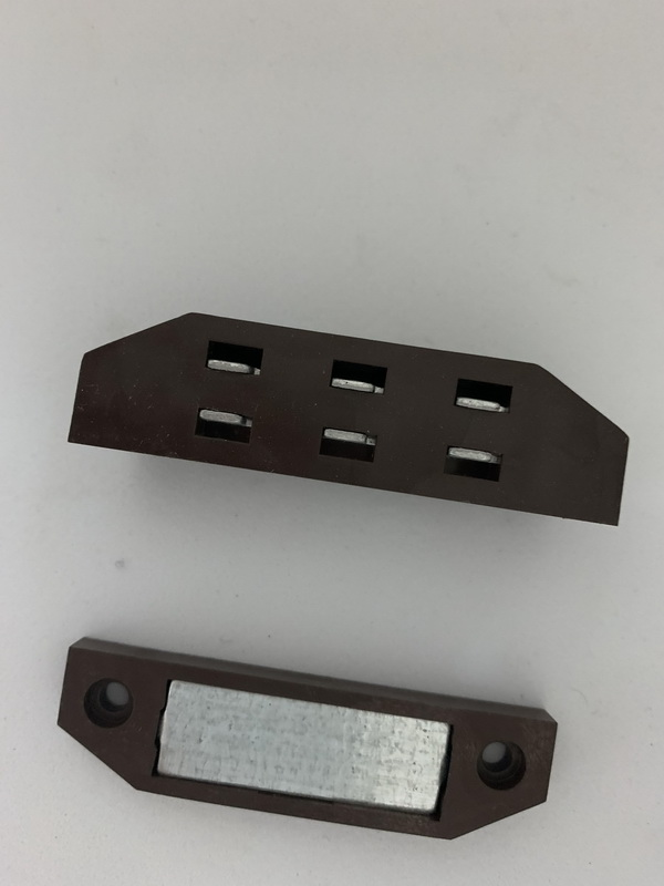Защелка-магнит для москитной сетки на двери коричневая